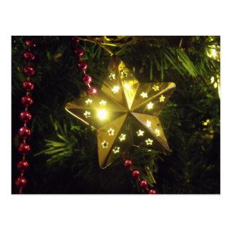 Shining Holiday Star Christmas Lights Postcard