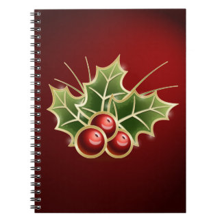 Shining Holly Berry Notebooks