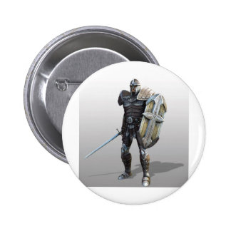 Shining Knight 6 Cm Round Badge