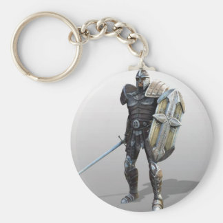 Shining Knight Basic Round Button Key Ring