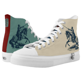 Shining Knight High Top Shoes, US Men 10.5 / US Printed Shoes