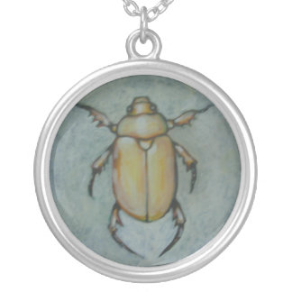Shining Leaf Chafer (Gold Bug) Personalized Necklace