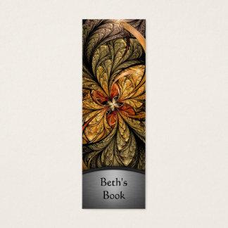 Shining Leaves Fractal Art Bookmark 2 Mini Business Card