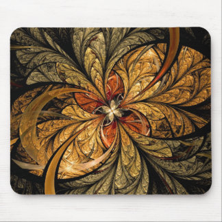 Shining Leaves Fractal Art Mouse Pad