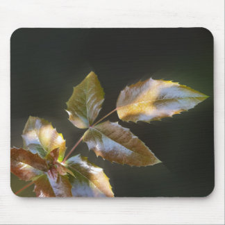 shining leaves mouse pad