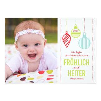 Shining ornaments photo Christmas card