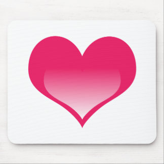 Shining Pink Heart Mouse Pad