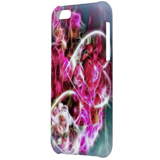 shining pink love hearts and flowers cover for iPhone 5C