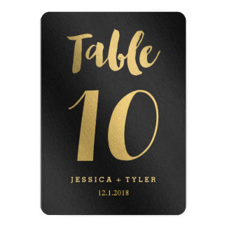 Shining Promise Double Sided Table Number Card