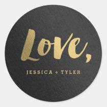 Shining Promise Love Wedding Favour Sticker