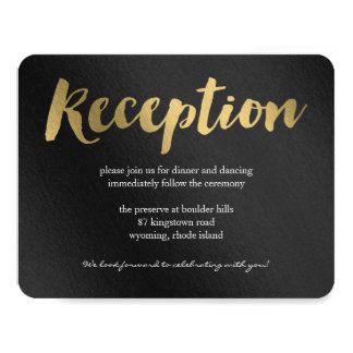 Shining Promise Wedding Reception Card