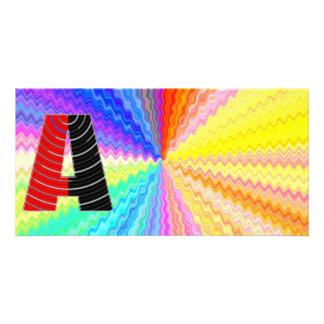 Shining Rainbow Mettallic Shade  n Art101 Graphic Photo Card Template