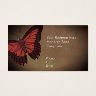 Shining Red Charaxes Butterfly Business Card