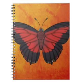 Shining Red Charaxes Butterfly Notebook