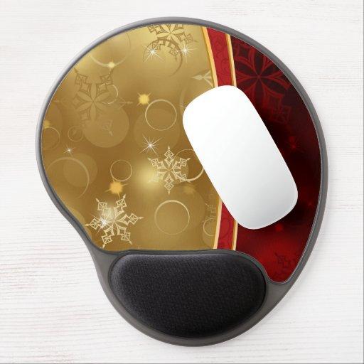 shining red gold elegant textures gel mouse mat