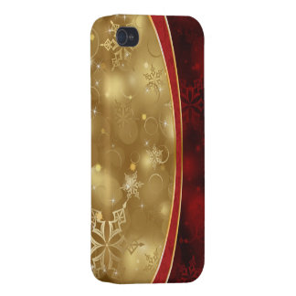 shining red gold elegant textures cover for iPhone 4