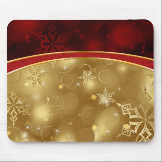 shining red gold elegant textures mouse pad