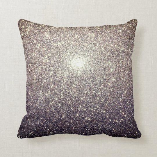 Shining Silver Throw Pillow