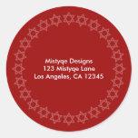 Shining Star Bar/Bat Mitzvah Address Labels Round Sticker
