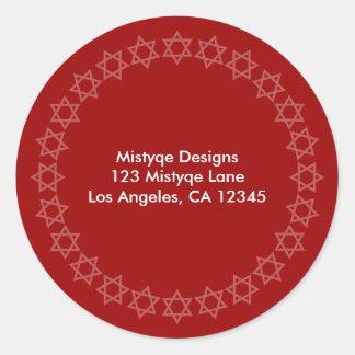 Shining Star Bar/Bat Mitzvah Address Labels Stickers