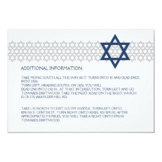 Shining Star Bar Mitzvah Blue Enclosure Card