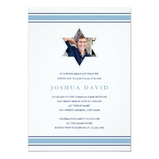 Shining Star Bar Mitzvah Card