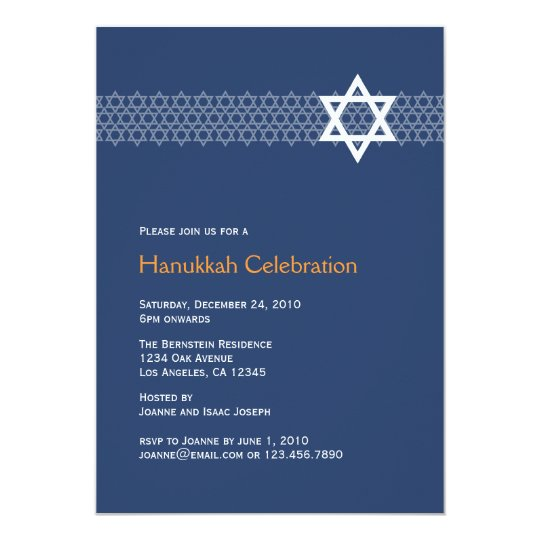 Shining Star Hanukkah Party Invitation
