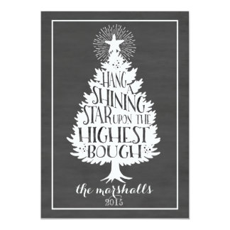 Shining Star Holiday Chalkboard Card