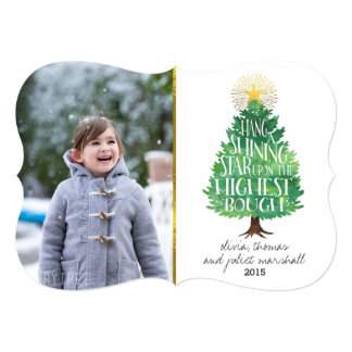 Shining Star Holiday Photo Card 13 Cm X 18 Cm Invitation Card