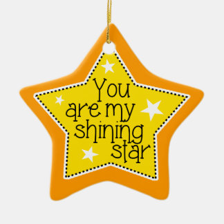 Shining Star Love, Family, and Friends-Christmas Ceramic Ornament