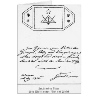 Shining star over square and Compass and lead Card