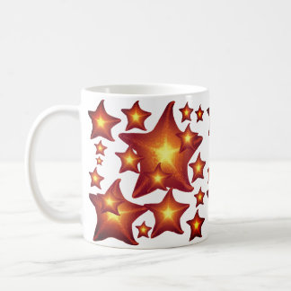 Shining Starfish red and orange design Coffee Mug