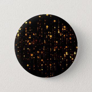 shining stars gold 6 cm round badge