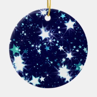 Shining stars illustration christmas ornaments