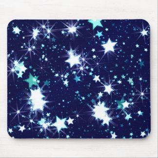 Shining stars illustration mouse pad