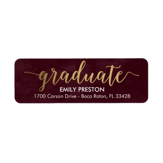 Shining Strong Editable Colour Graduation Label