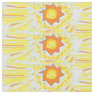 shining sun in sky fabric