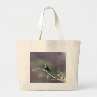 Shining Sunbird (Cinnyris habessinicus) Large Tote Bag
