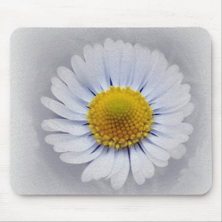 shining white daisy mouse pad