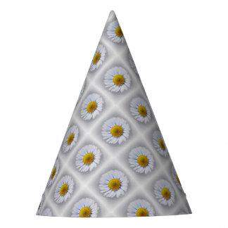 shining white daisy party hat
