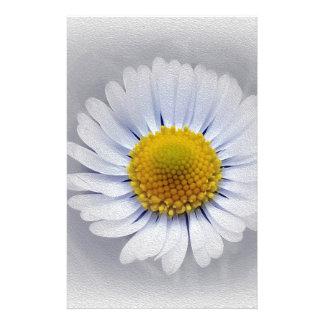 shining white daisy stationery