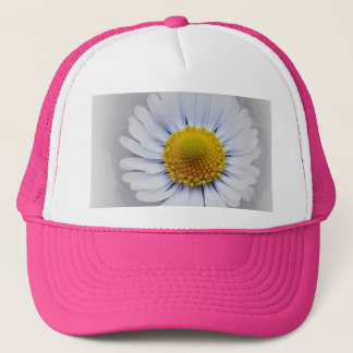 shining white daisy trucker hat