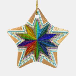 ShiningStar, Rainbow n Diamond Decorations Ceramic Star Decoration