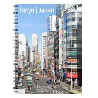 Shinjuku district in Tokyo, Japan Spiral Notebook