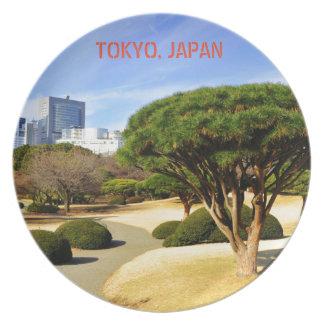 Shinjuku Gyoen National Garden in Tokyo, Japan Plate