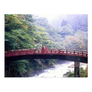 Shinkyo bridge Nikko Japan Postcard