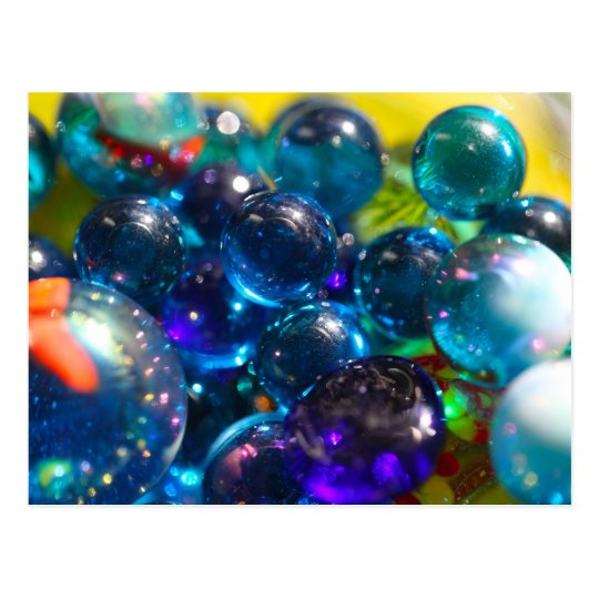Shinning  glass beads postcard
