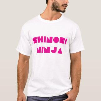 SHINOBI NINJA LOGO WHITE PINK T-Shirt