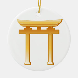 Shinto Symbol Ceramic Ornament
