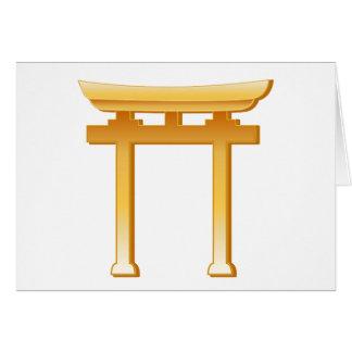 Shinto Symbol Greeting Card